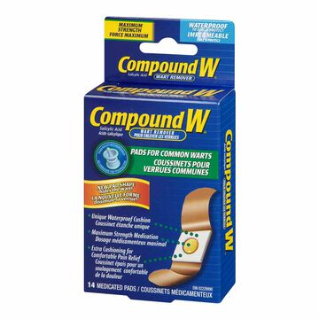 Compound W Adult Wart Remover Pads - 14's