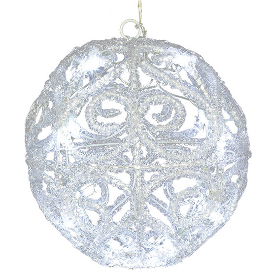 Danson LED Ball with Ice Ornament - 7.5in - White - X99046