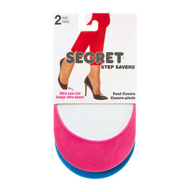 Secret Step Savers Foot Cover - Pink/Blue - 2 pair