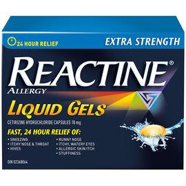 Reactine Allergy Liqui-Gels - Non-Drowsy - 24 Hour - 10mg/40's