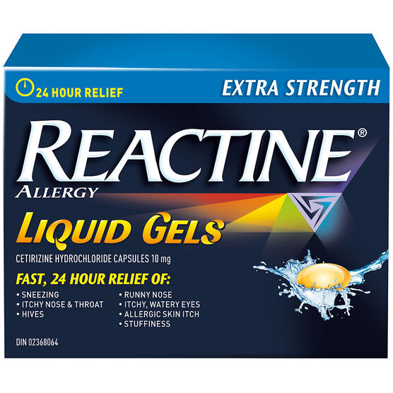Reactine Allergy Liqui-Gels - Non-Drowsy - 24 Hour - 10mg/40's