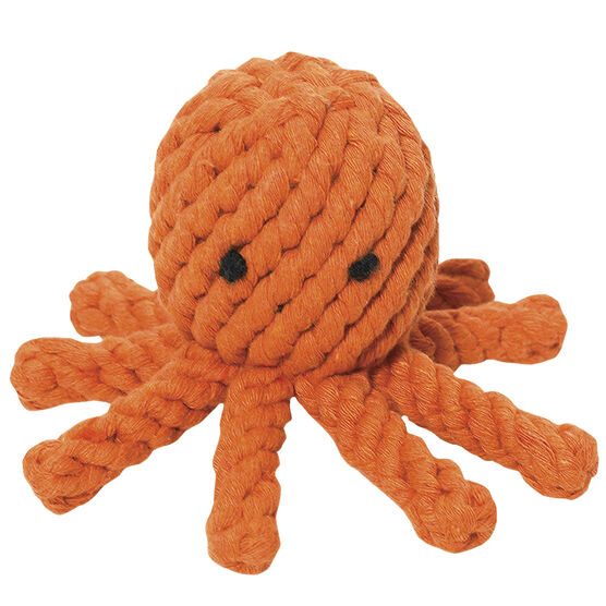 Jaxbones Rope Dog Toy - Octopus - 5inch