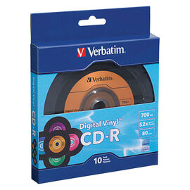 Verbatim CD-R 80min 52X with DigitalVinyl Surface - 10 pack