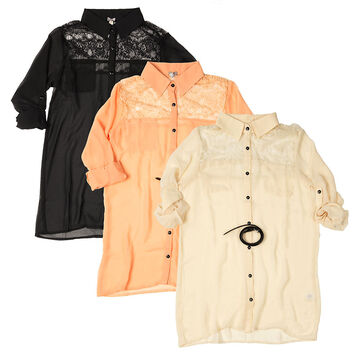 Poof Ladies Blouse - Assorted - S-L