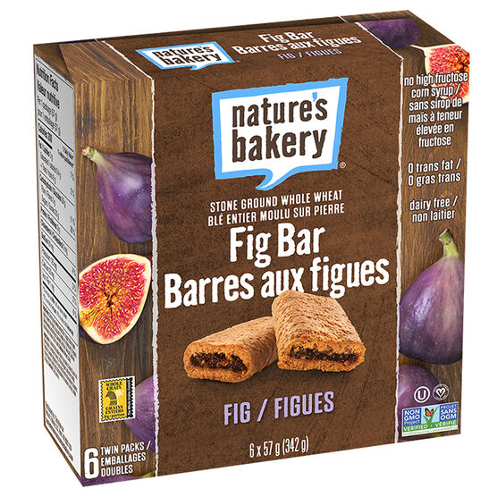 Natures Bakery Fig Bars - Whole Wheat - 6 pack