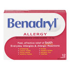 Benadryl Allergy 25mg Caplets - 12's