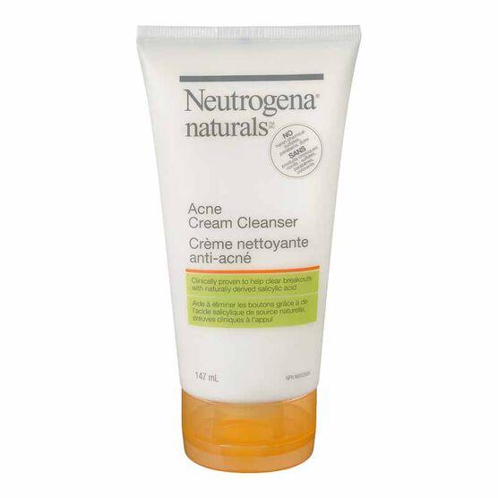 Neutrogena Naturals Acne Cream Cleanser - 147ml