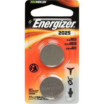 Energizer Lithium Battery - CR2025 - 2 Pack