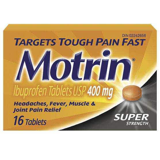 Motrin IB Tablets 400mg - 16's