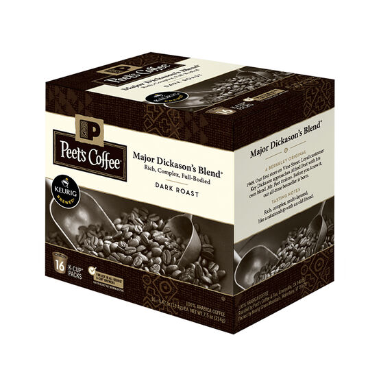 Peet's Major Dickason's Keurig Coffee Pods - Dark Roast - 16's
