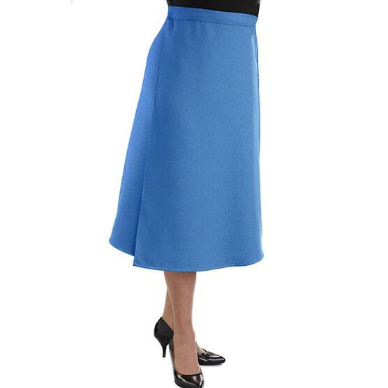 Silvert's Gabardine Wrap Skirt - Cool Blue - Medium