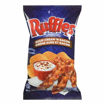 Ruffles Potato Chips - Sour Cream 'n Bacon - 66g