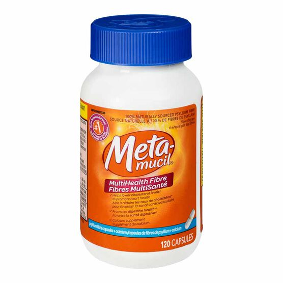 Metamucil Capsules Plus Calcium - 120's