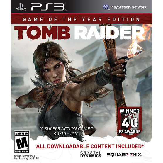PS3 Tomb Raider Game of the Year