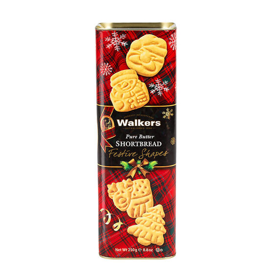 Walkers Festive Shapes Tin - 250g