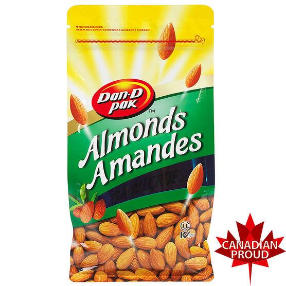 Dan-D-Pak Almonds - Raw - 650g