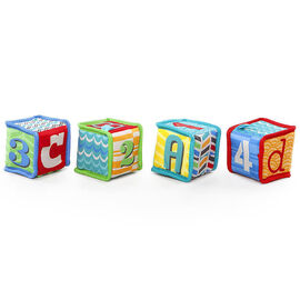 Bright Starts Grab & Stack Blocks - 4 piece