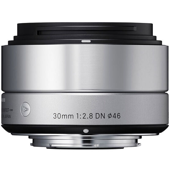 Sigma Art 30mm F2.8 DN Silver Lens for Sony NEX - A30DNSRSE