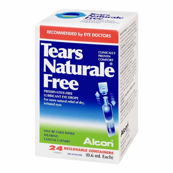 Alcon Tears Naturale Free Eye Drops - 24 x 0.6ml