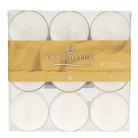 Enlighten Tealights - Vanilla Flower - 9 pack