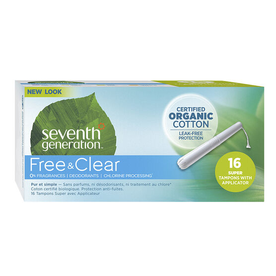 Seventh Generation Free & Clear Tampons - Super - 16's
