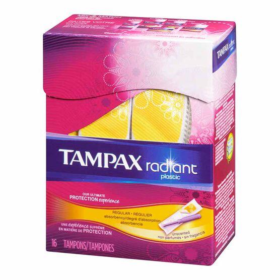 Tampax Radiant Tampons - Regular - 16's