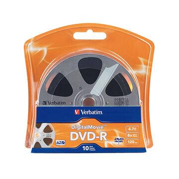 Verbatim Digital Movie DVD-R 4.7GB 8X - 10 pack Blister - 96856