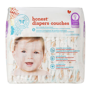 Honest Diapers - Size 2 - 34's