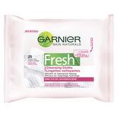 Garnier Skin Naturals Fresh Cleansing Cloth - Normal to Dry Skin - 25's