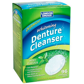 London Drugs Overnight Whitening Denture Cleanser - Mint - 96's