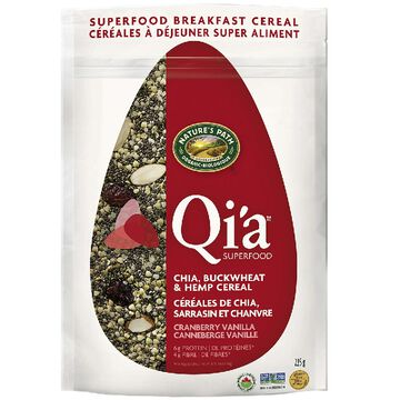 Nature's Path Qi'a Superfood Chia Buckwheat & Hemp Cereal - Cranberry Vanilla - 225g