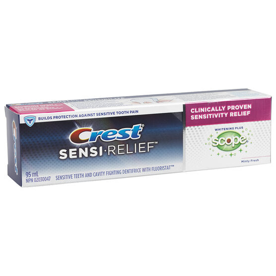 Crest Toothpaste Sensi-Relief Whitening plus Scope - 95ml