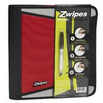 Zwipes Zipper Binder - Assorted - 1.5inch