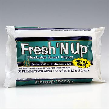 Fresh 'N Up Moist Wipes - Refill - 42's