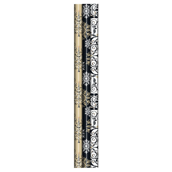 """Plus Mark Contemporary Wrapping Paper - 30"""" x 45"""" - Assorted"""