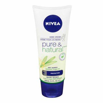 Nivea Pure & Natural Hand Cream - 100ml