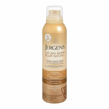 Jergens Natural Glow Foaming Daily Moisturizer - Fair to Medium - 180g