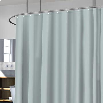 Splash Fabric Shower Curtain Liner - Silver