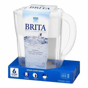 Brita Space Saver Pitcher - 6 cup