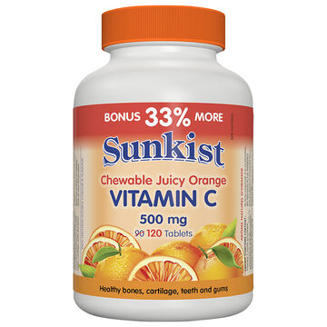 Sunkist Vitamin C 500mg - Orange - 90's