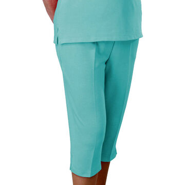 Silvert's Adaptive Open Back Capris - Small - Aqua - 243700102