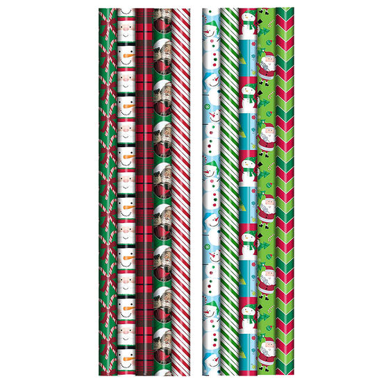 Plus Mark Multi-Roll Wrapping Paper - 30 x 125 - Assorted