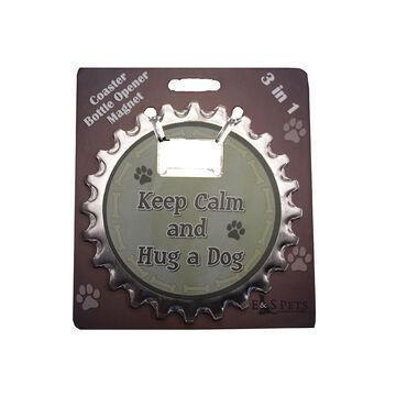 Pet Coaster - Keep Calm and Hug a Dog