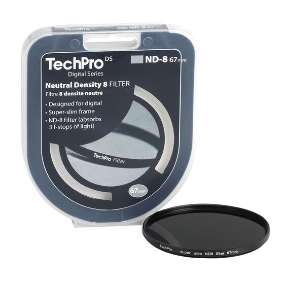 TechPro DS 67mm Neutral Density 8 Filter - FIMSND8B67-CB