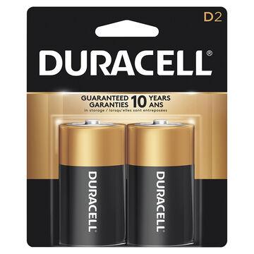 Duracell CopperTop D Alkaline Batteries - 2 pack