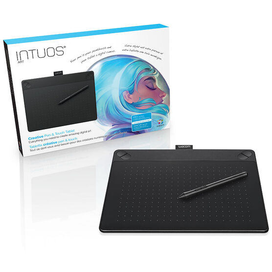 Wacom Intuos Art USB Pen & Touch Tablet - Medium - Black - CTH690AK