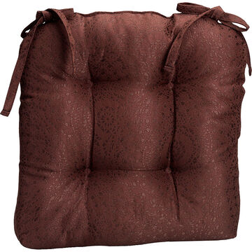 London Drugs Brocade Chair Pad - Brown