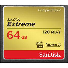 SanDisk Extreme 64 GB CompactFlash Memory Card - SDCFXS-064G-X46