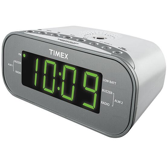 Timex AM/FM Dual Alarm Clock - White - T231WY