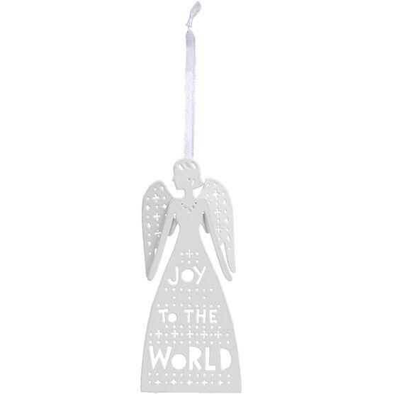 Winter Wishes Metal Angel Ornament - 4.6in - XLD6004606BFOB